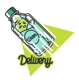 Color vintage Water delivery emblem vector image vector image