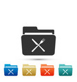 crossed fork and knife over folder icon isolated vector image vector image