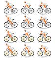 Default cyclist vector image vector image