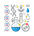 dna research biotechnology genetic analysis vector image vector image