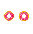donuts or doughnut sweet isolated icons set vector image