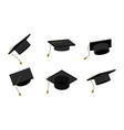 education graduate cap college symbol school vector image