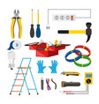 electrician icons set electrician vector image vector image