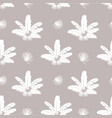 feather pattern white feathers on gray background vector image vector image