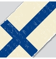 Finnish grunge flag vector image vector image