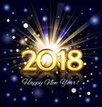 fireworks with greetings happy new year 2018 vector image