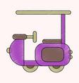 flat shading style icon golf machine vector image