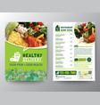 food delivery flyer pamphlet brochure design vector image vector image