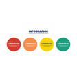 four steps circle infographic design vector image