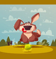 funny dog cartoon cute puppy vector image
