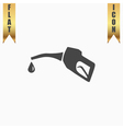 Gasoline pump nozzle sign vector image