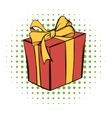 Gift box comics icon vector image vector image