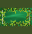 green leaf border template vector image vector image
