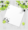 grunge paper on wooden texture vector image vector image
