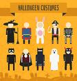 Halloween Costumes vector image