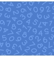 Hand Drawn Numbers Seamless Pattern Blue vector image vector image