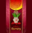 happy navratry concept banner cartoon style vector image vector image