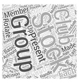 How To Form Stock Club Word Cloud Concept vector image vector image