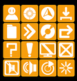 icon technology orange vector image vector image