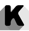 letter k sign design template element vector image vector image