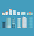 modern city buildings clipart isometric buildings vector image vector image