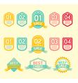 Modern soft color Design label vector image