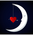 Moon Valentines day background vector image