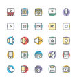Multimedia Cool Icons 2 vector image vector image