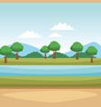 nature landscape cartoon vector image vector image