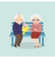 Old couple together Seniors happy leisure vector image vector image