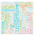 Online Insurance Quotes text background wordcloud vector image vector image