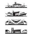 passenger transport terminals vector image vector image