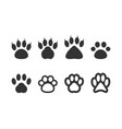 paw clip art design isolated vector image vector image