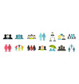 people group icon set flat style vector image