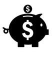 Piggy bank icon silhouette saving money symbol