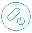 Pills line icon vector image vector image