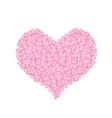 Pink Lilac or Syringa Vulgaris in A Heart Shape vector image vector image