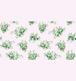 pink pattern with snowdrops vector image