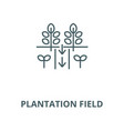 plantation field line icon linear concept vector image vector image