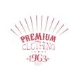 Premium Clothing Vintage Emblem vector image vector image