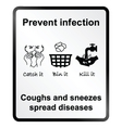 Prevent infection Information Sign vector image vector image