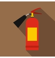 Red fire extinguisher icon flat style vector image vector image