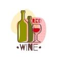 Red Wine emblem vector image vector image