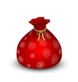 Santa Sack on white background vector image vector image