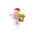 santa vibrio cholerae cartoon with sacks gifts vector image vector image
