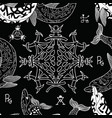 seamless pattern with gothic symbols vector image vector image