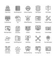 search engine and optimization innovative icons vector image vector image