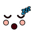 sleeping face emoji icon image vector image
