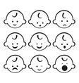 smiley faces baboy set vector image
