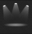 spotlights on transparent background vector image